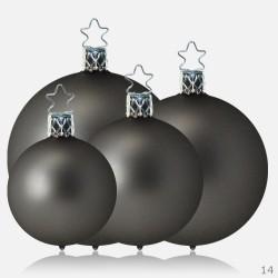 christbaumkugeln grau