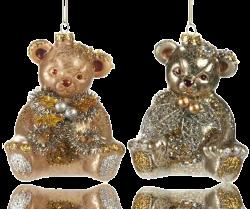 Weihnachtskugeln Christbaumschmuck Bär
