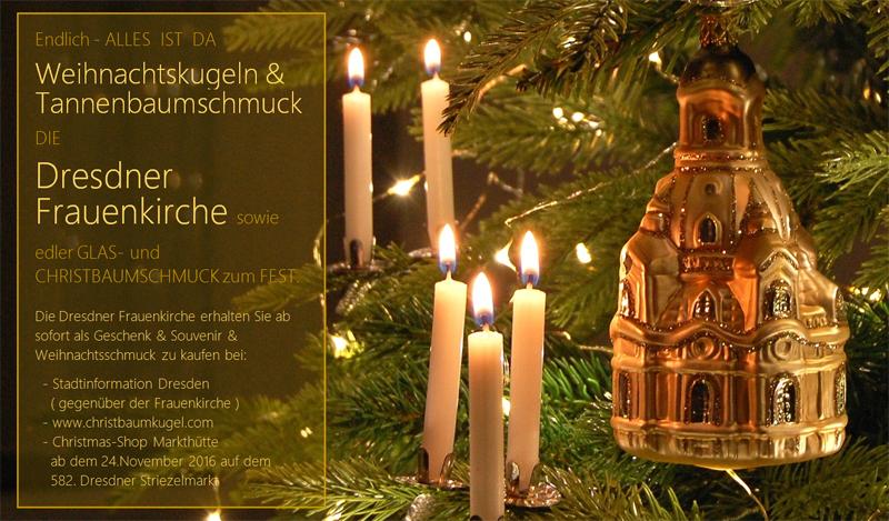 Weihnachtskugeln & Tannenbaumschmuck eingetroffen