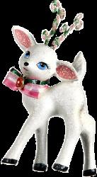 Reh weiß Weihnachtsschmuck